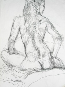 Back, Life Drawing Workshop. Art by Cameron Morgan, CAAS member.
